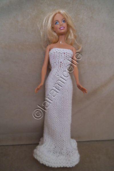 tuto gratuit barbie : fourreau blanc et fil or