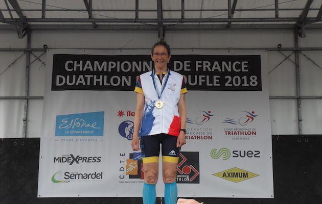 France Duathlon : Christine HAUDEBOURG championne !