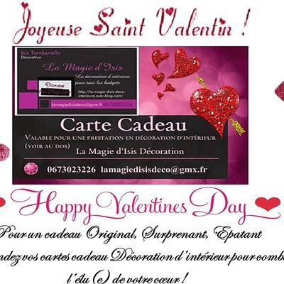 Bientôt la saint valentin et toujours pas d'idée ? Valentin's day coming soon but you got no idea ?