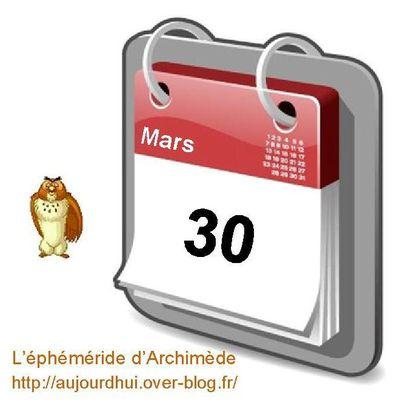Personnalités nées un 30 Mars