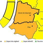 Alerte Météo :: Landes et Pyrénées-Atlantiques en vigilance pluie / Aquitaine Infos