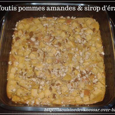 Clafoutis pommes amandes et sirop d'érable