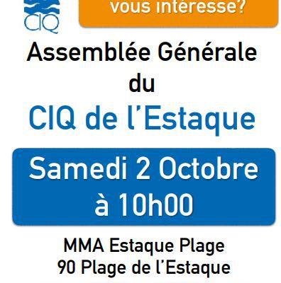 Assemblée Générale du CIQ de l'Estaque - Samedi 2 Octobre