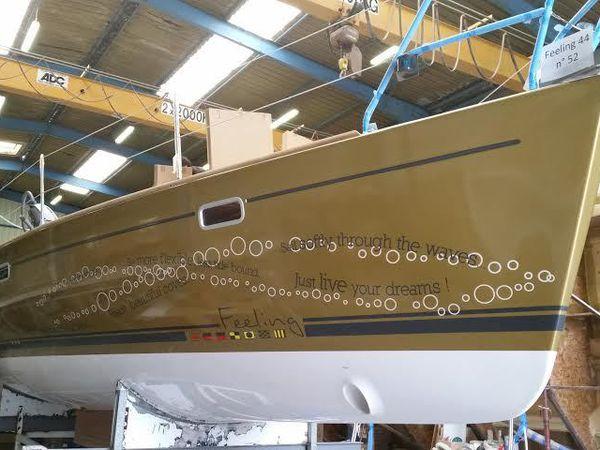 Les toutes premières photos du Feeling 44 du chantier Privilège Marine (85) sont sue ActuNautique.com, en exclusivité !
