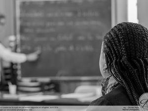 Ambiance studieuse lors d'un cours de Français à Loudun près de Tours.
