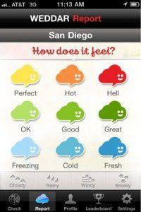 Weddar : la météo des gens sur iPhone, sans présentateur, sans Météo France