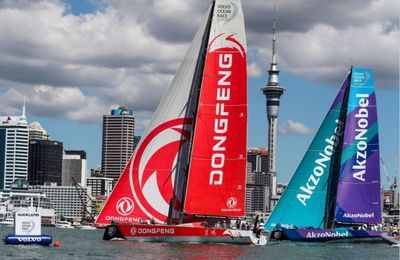 Volvo Ocean Race - Dongfeng win challenging New Zealand Herald In Port Race
