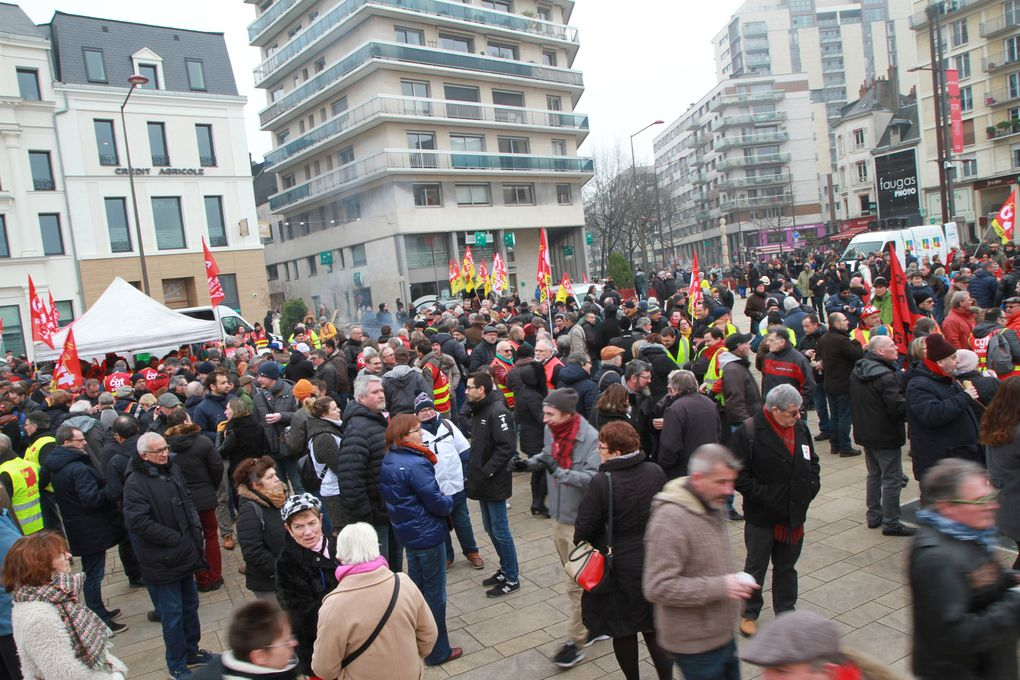 24.01.2020 Une grande Manif!!!pour les 51 jours de grève.