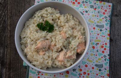 Risotto au saumon (au Cookeo)