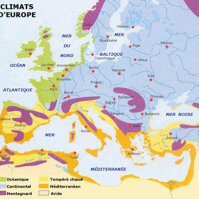 Quelle est la température moyenne des régions de France ?