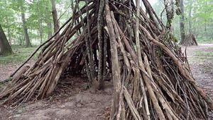 Dans les bois, les cabanes ....