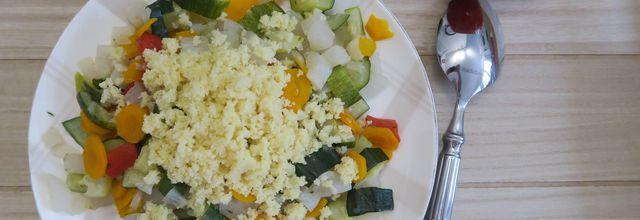 Légumes à la semoule de couscous -light