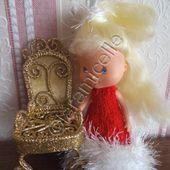 tuto gratuit poupée : robe de Noël pour Charlotte aux fraises