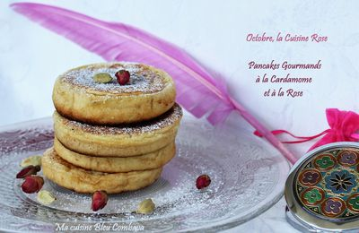 Pancakes Gourmands à la Cardamome et à la Rose #Octobre rose