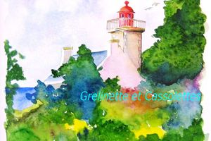 Aquarelle... Le Phare de Combrit