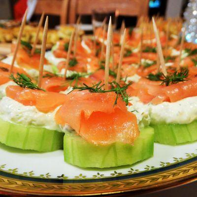 Bouchées concombre - saumon/ Cucumber - salmon bites