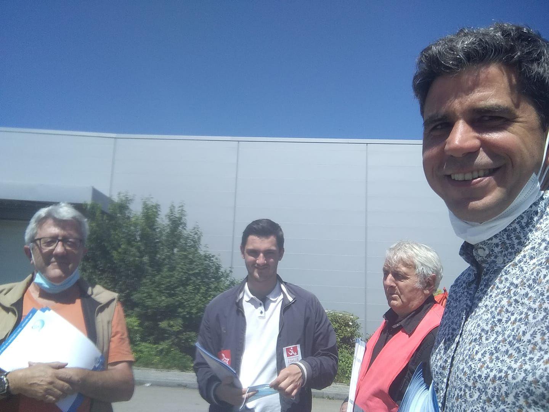 Daniel Ravasio, Enzo de Gregorio, Serge Bazin et Ismaël Dupont en distribution de A coeur ouvert juillet 2021 à l'hôpital de Morlaix
