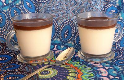 Panacotta à la vanille et crémeux chocolat