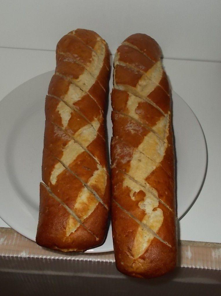 Aldi Goldähren Laugen-Baguette mit Salzbutter