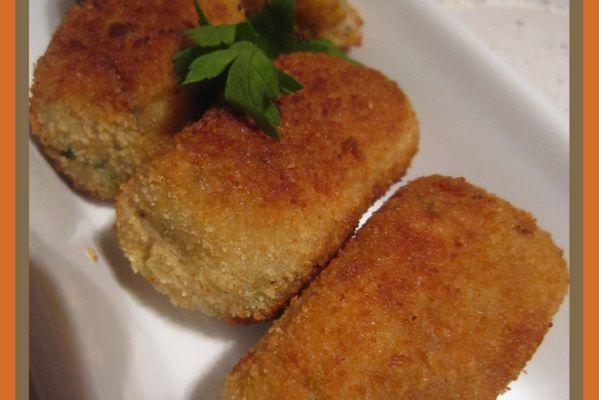 Croquettes de pommes de terre fourées au fromage