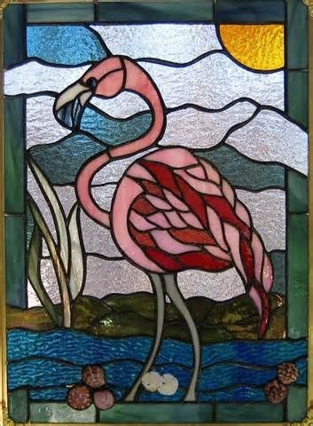 stained glass flamin