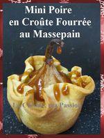 Mini Poire en Croûte Fourrée au Massepain ...