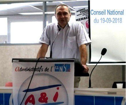 CONSEIL NATIONAL A et I UNSA 19-09-2018
