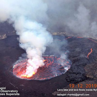 The rise in the level of Lake Nyiragongo threatens Goma.