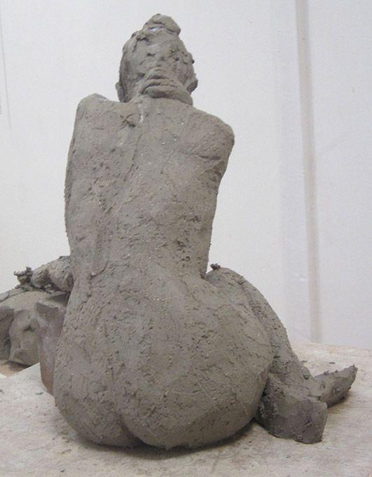 Sculpture d'après modèle vivant (Carole) 15 octobre 2020