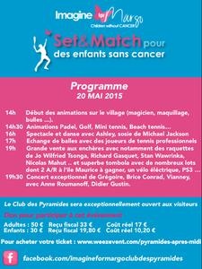 Mercredi 20 mai aux Pyramides : Set et Match pour des enfants sans cancer