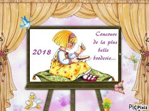 """JEU CONCOURS """"LA PLUS BELLE BRODERIE"""" - MILLÉSIME 2018.... J-1"""