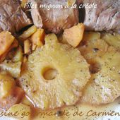 Filet mignon de veau à la créole - Cuisine gourmande de Carmencita
