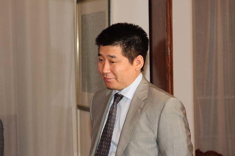 27 octobre 2009, dernière conference avant son départ de l'ambassadeur de Mongolie en France.