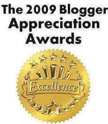 The 2009 blogger Appreciation Award