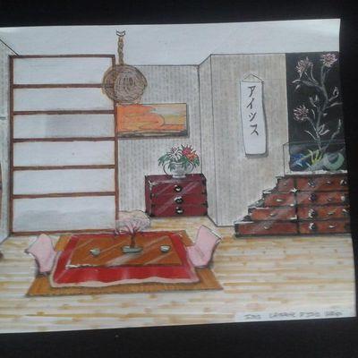 Japonisant le dessin ! Japanese deco !