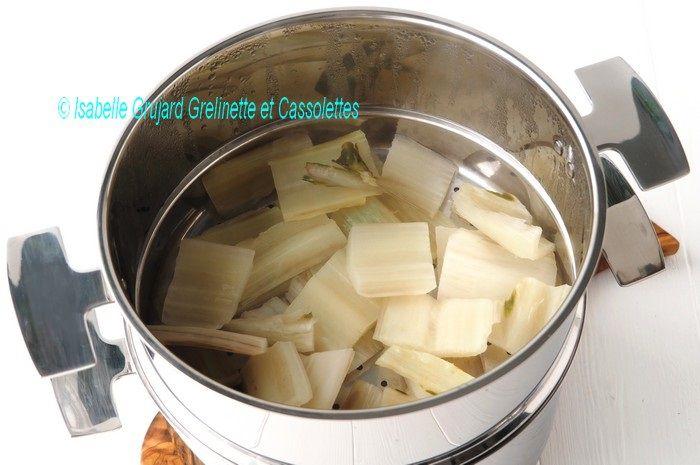 Cassolettes de Bettes à Cardes en Cuisson Etagée