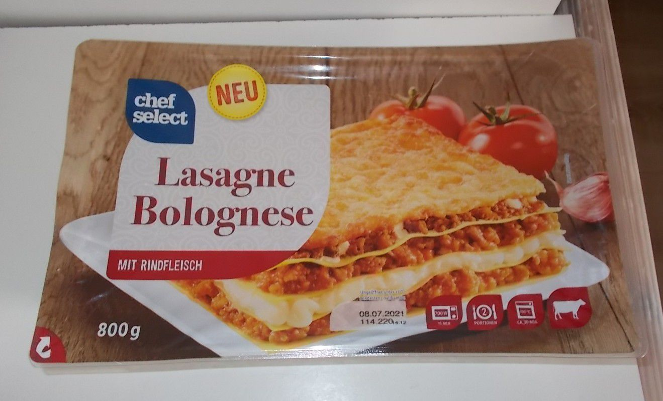 Lidl Chef Select Lasagne Bolognese mit Rindfleisch