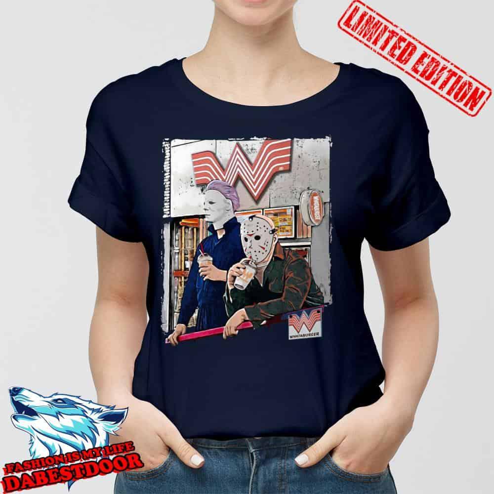 Michael Myers And Jason Voorhees Whataburger shirt, hoodie, sweater