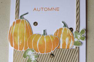 Dernière carte d'automne