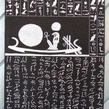 Peinture écritures hiéroglyphique et hiératique - Le conte du naufragé