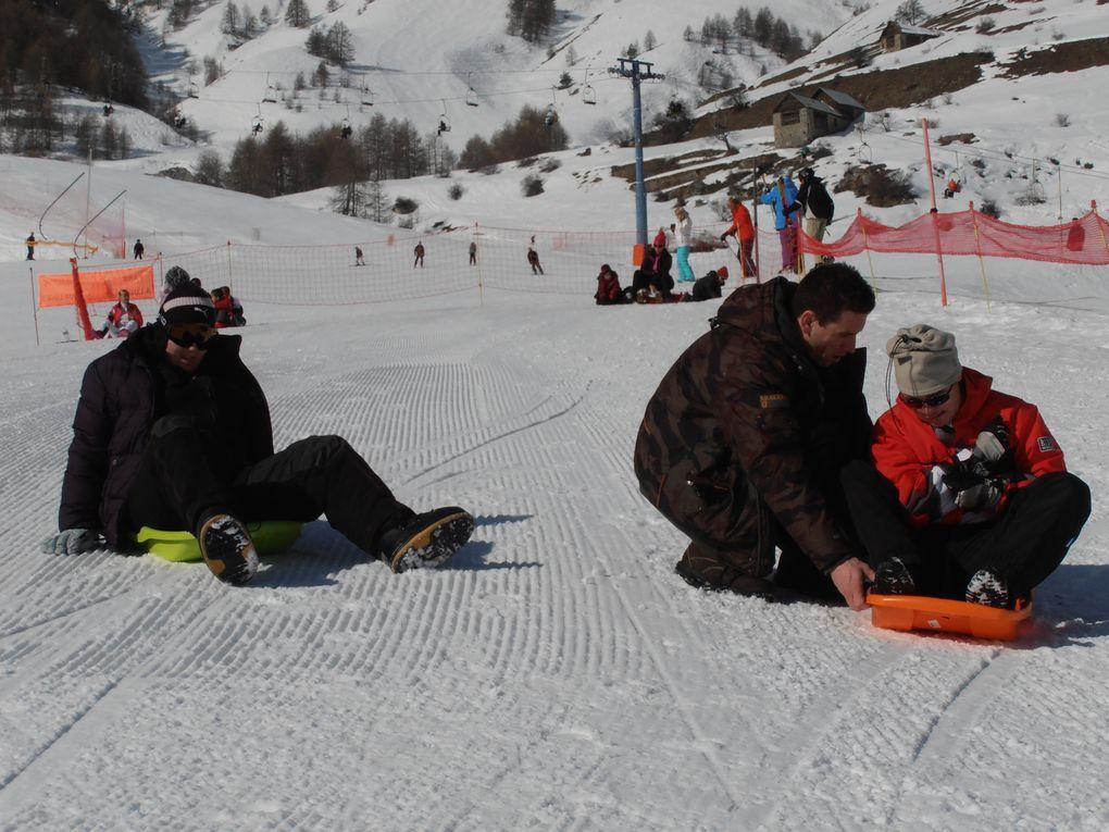 Megan, Léo et Jean-Philippe/ journée neige du 3 mars 2013