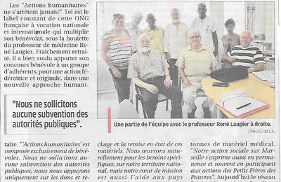 Actions Humanitaires s'affiche