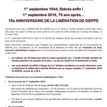 Emission philatélique 75e anniversairede la libération de Dieppe