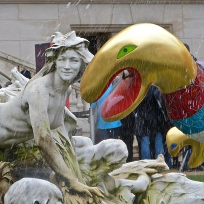 Niki de Saint-Phalle, arbre de vie, fontaine au serpents au Grand Palais, Paris
