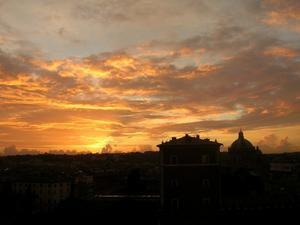 Le ciel de Rome au crépuscule