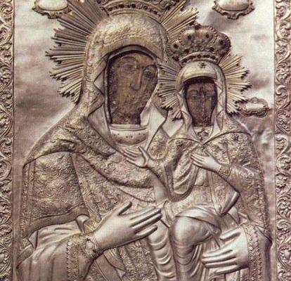 Icoana iubita a Moldovei, a Sfintei Ana, de la manastirea Bistrita - Neamt