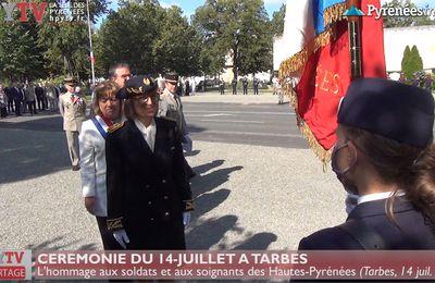 Cérémonie du 14-Juillet à Tarbes (14 juillet 2020) | La Télé de Tarbes