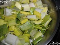 Parmentier de saucisses de Montbéliard aux poireaux et pommes de terre