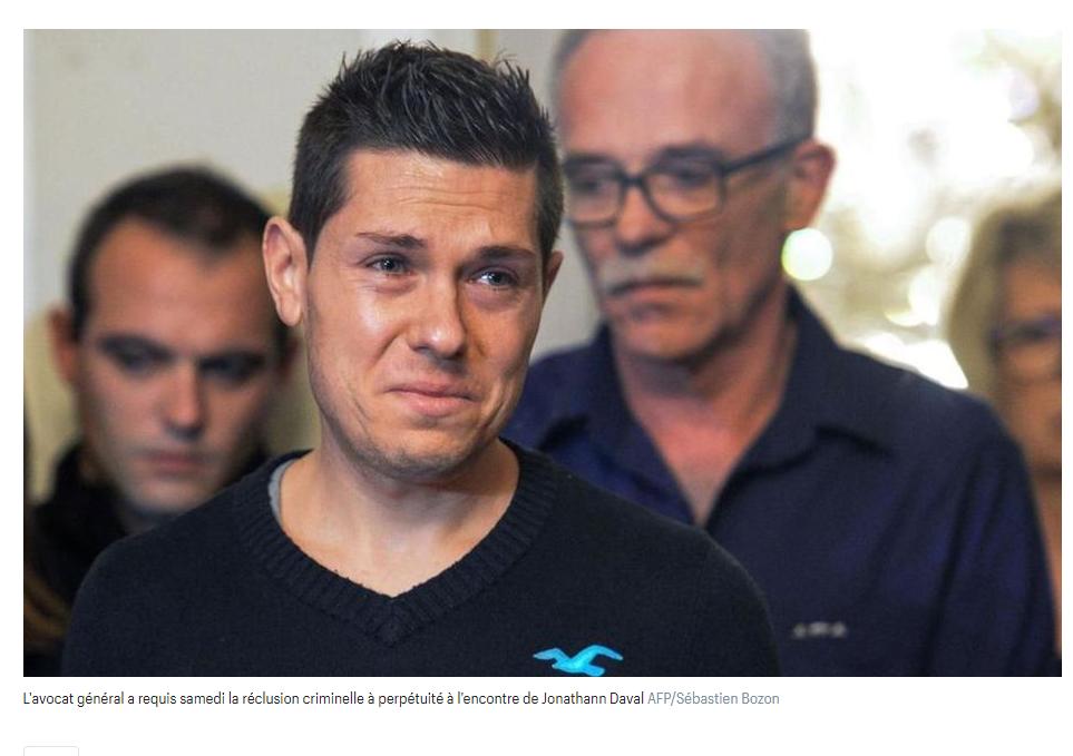 ASSISES: Jonathann Daval condamné à 25 ans de réclusion pour le meurtre de sa femme, Alexia