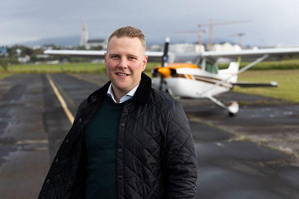 Hjörvar Hans Bragason, principal of Reykjavík Flight Academy